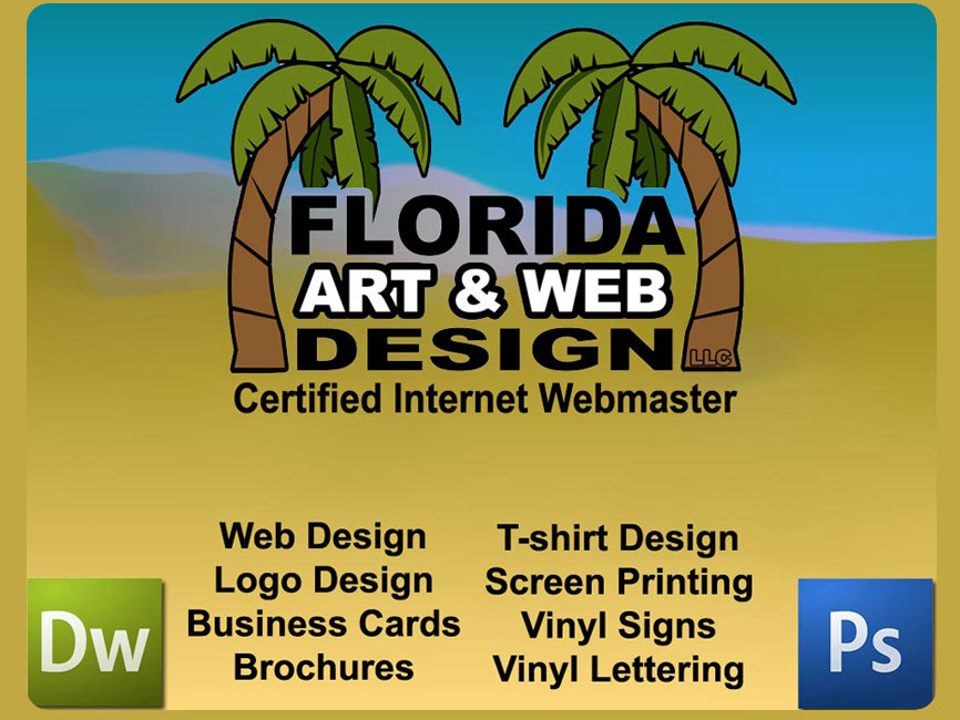 Florida art and web design graphics t shirt printing for T shirt printing website